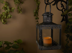 Eva LED Candle Lantern - Antique Pewter
