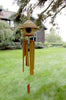 Image of Woodstock Thatched Roof Birdhouse Bamboo Chime