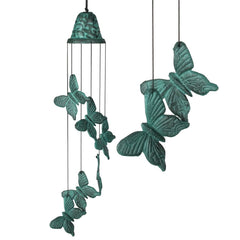 Verdigris Butterfly Wind Chime