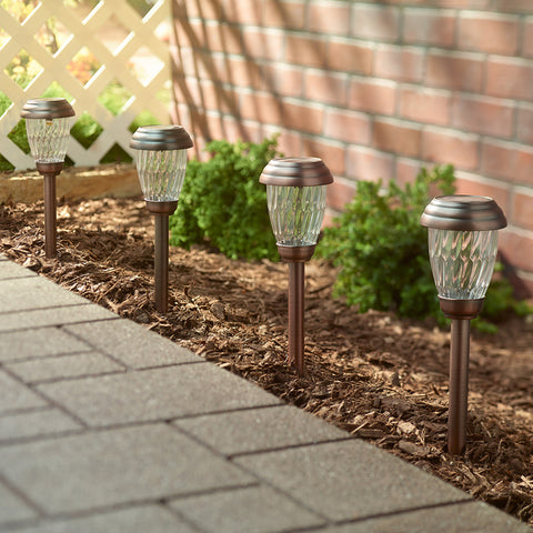 Charleston 6pack Solar Lights - Antique Bronze