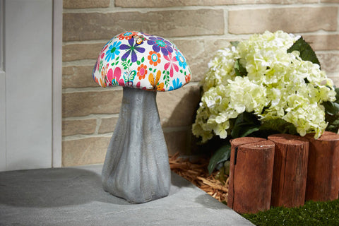 Decorative Garden Mushroom - Flower Power