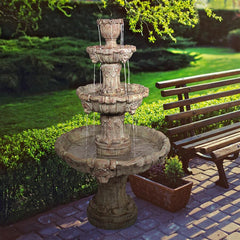 Medici Lion Four-Tier Fountain: Brown Stone