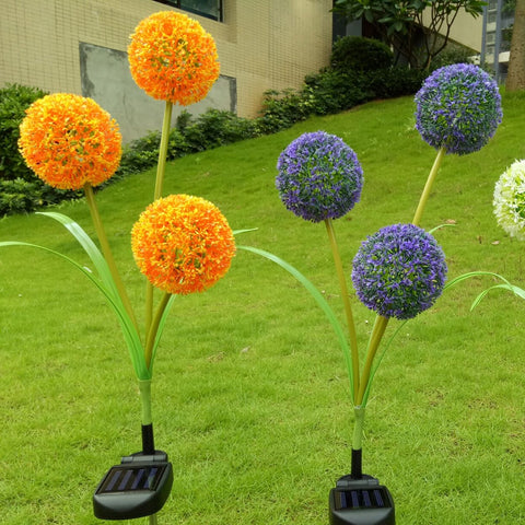 Solar Powered Flower Stake
