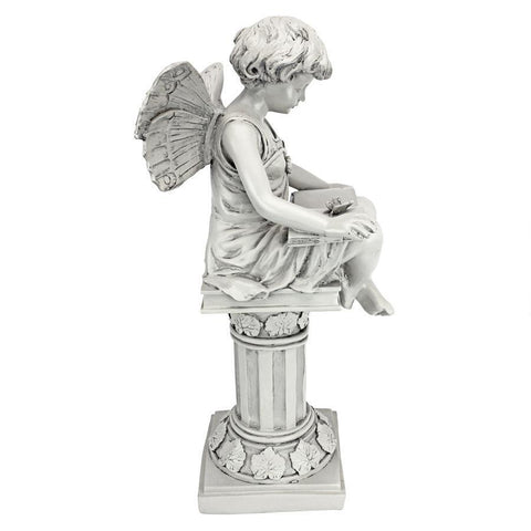 The British Reading Fairy Garden Statue