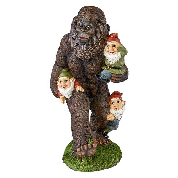 Bigfoot Gnome Garden Statue Hilarious Garden Lovers Club