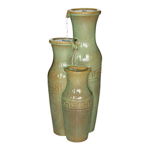 Ceramic Grecian Jars Garden Fountain