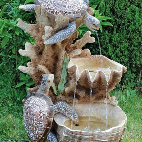 Sea Turtle Cove Cascading Sculptural Fountain - SS1646