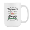 Image of You Can't Buy Happiness - But You Can Buy Flowers Mug