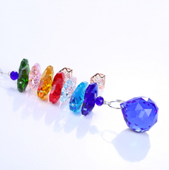 Blue Colored Glass Crystal Suncatcher