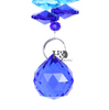 Image of Blue Colored  Glass Crystal Suncatcher