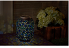 "Image of Solar Cool Blue Mosaic 10"" Lantern"