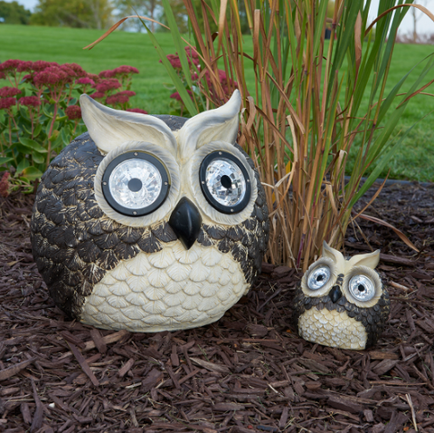 Solar Owls Accent Lights (Set of 2)