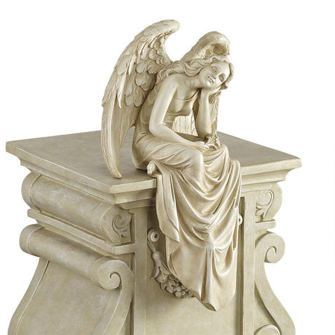 Resting Grace Sitting Angel Statue (Medium)