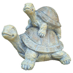 Two's a Crowd Stacked Turtle Statue
