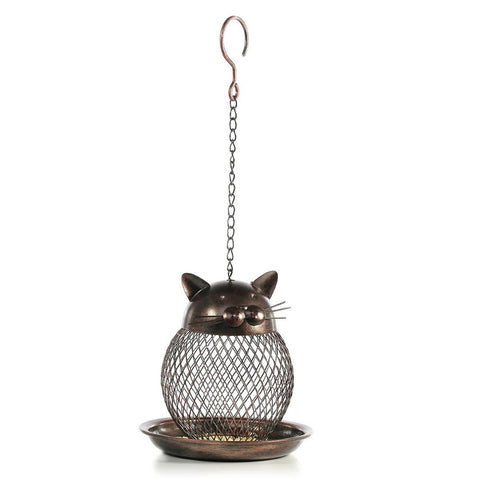 Hanging Cat Shaped Bird Feeder