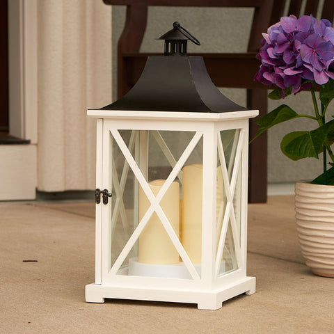 "York 20"" Triple LED Candle Lantern"