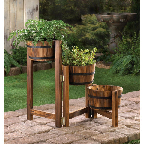 Apple Barrel Ladder Planter