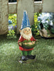 Image of Bird Feeder Gnome Solar Garden Statue