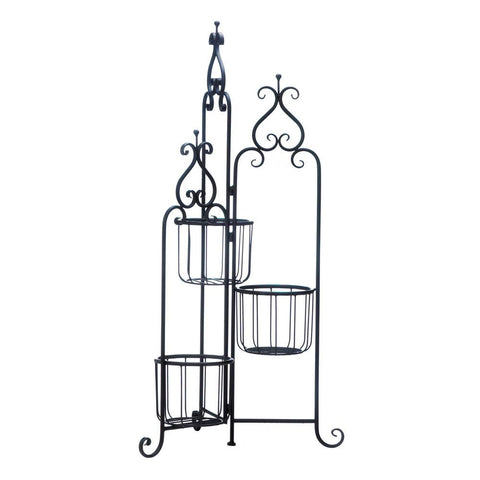 Black Iron Triple Plant Stand