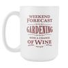 Image of Weekend Forecast - White 15 oz Mug
