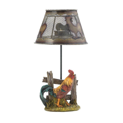 Country Rooster Candle Lamp