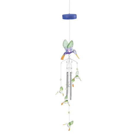 Light-Up Hummingbird Windchimes