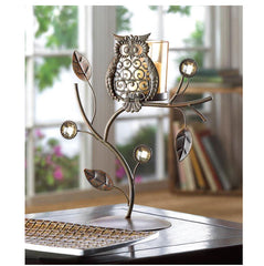 Wise Owl Votive Candle Stand