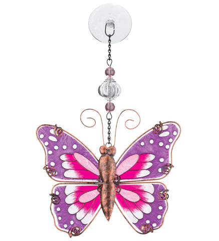 Pink Butterfly Sun Catcher