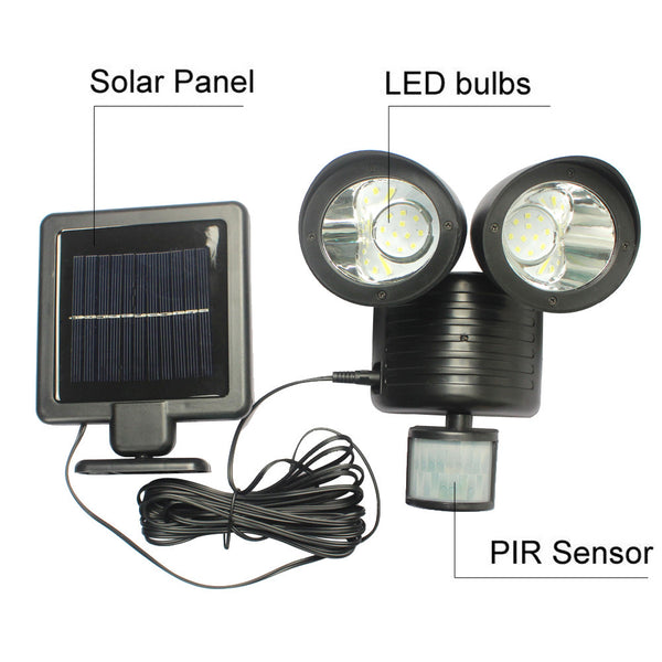 Outdoor Solar LED Wall Lamp With Motion Sensor