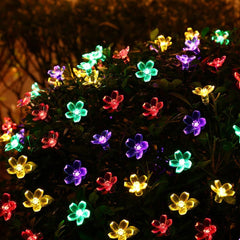 50 LED Flower Solar Powered Fairy Lights