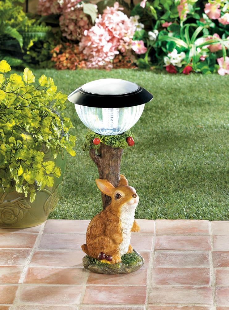 Adorable Rabbit Solar Garden Path Light Garden Lovers Club
