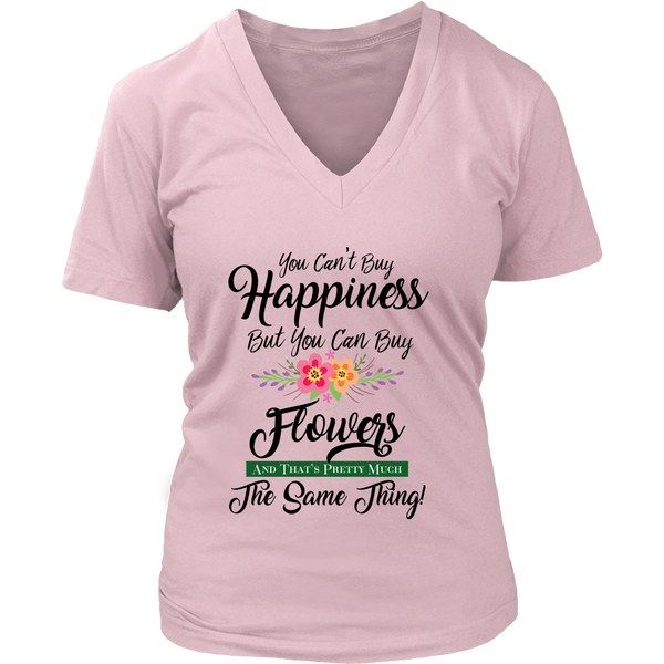 Women's V-Neck - You Can Buy Flowers