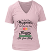 Image of Women's V-Neck - You Can Buy Flowers
