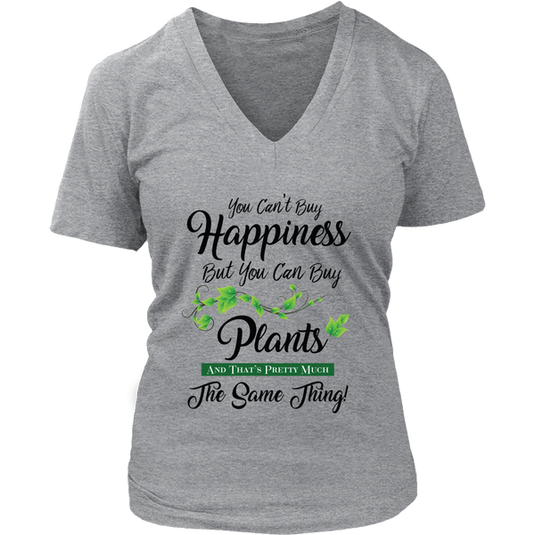 Women's V-Neck - You Can't Buy Happiness