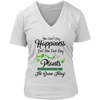 Image of Women's V-Neck - You Can't Buy Happiness