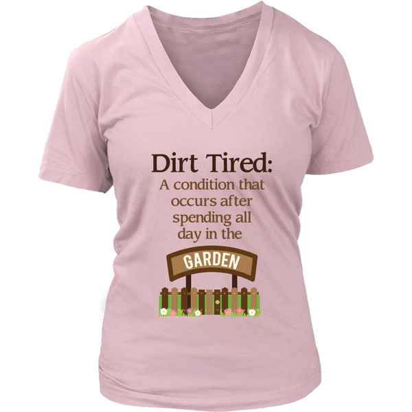 Women's V-Neck - Dirt Tired