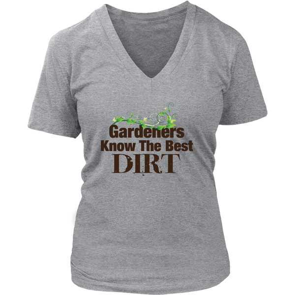 Womens V-Neck - Gardeners Know the Best Dirt