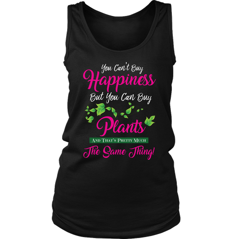 Womens Tank (Black) - You Can't Buy Happiness