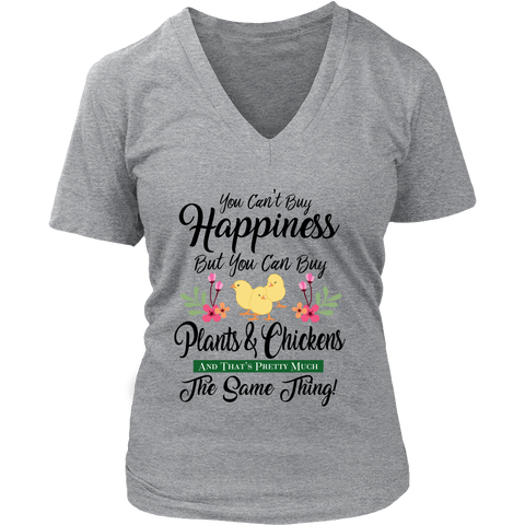 Women's V-Neck - You Can Buy Plants & Chickens