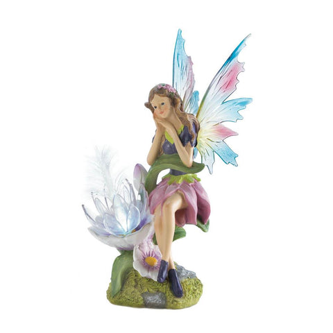 Solar Fairy With Flower Statue