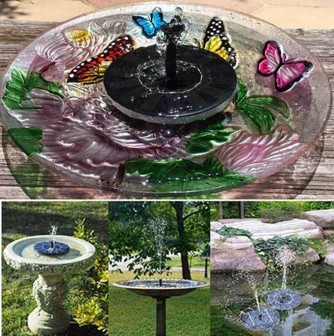 Garden Solar Powered Fountain Pump