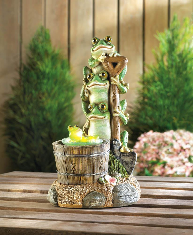 Solar Rotating Frog Garden Decor ...