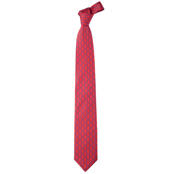 Woven Silk Necktie in Diamond Pattern