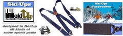 USA made Ski-Ups snow sports pant suspenders by Holdup Suspender Company