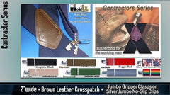 Contractor Series Work Suspenders with Jumbo No-slip Clips and Gripper Clasps