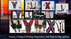 Stripe Series Single Clip Suspenders