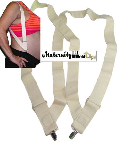 Holdup Maternity side clip suspenders with patented no-slip clips