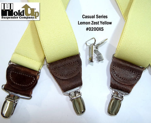 light Lemon Zest  yellow casual series Holdup suspenders in Y-back style
