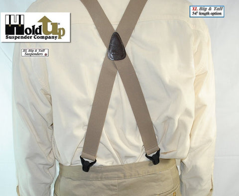 XL light Tan no-alarm airport friendly Holdup Suspenders