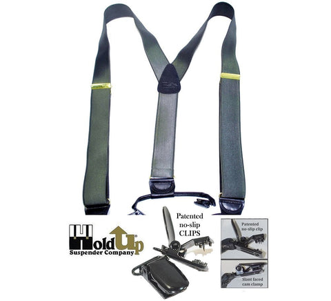 Corporate Series Dual clip Double-Up Suspender in Charcoal Grey color